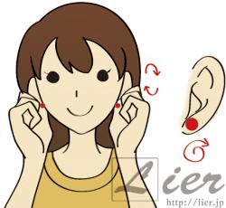 耳たぶ回し,方法,やり方,小顔,リフトアップ,ダイエット