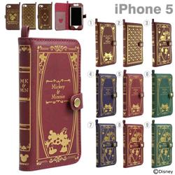 iPhone5S,ケース,ダイアリータイプ,レザー,ディズニー