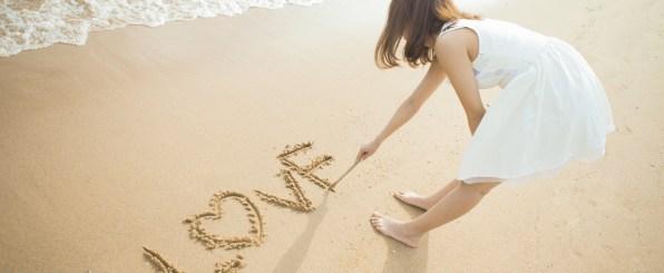 浜辺でラブ