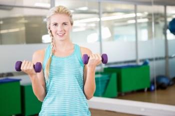 350 運動 ダンベル トレーニング ジム 女性
