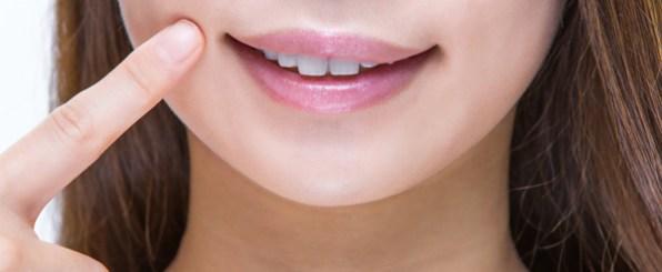 口臭の対策/笑顔の口元