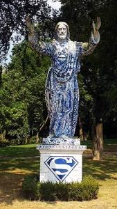 Keigrote kunst: Jezus in Delfts blauw