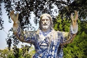Jezus in Delfts blauw