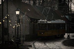 Het Openluchtmuseum in winterse sferen