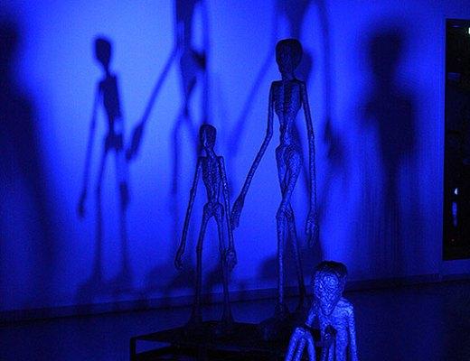 Museum in het donker