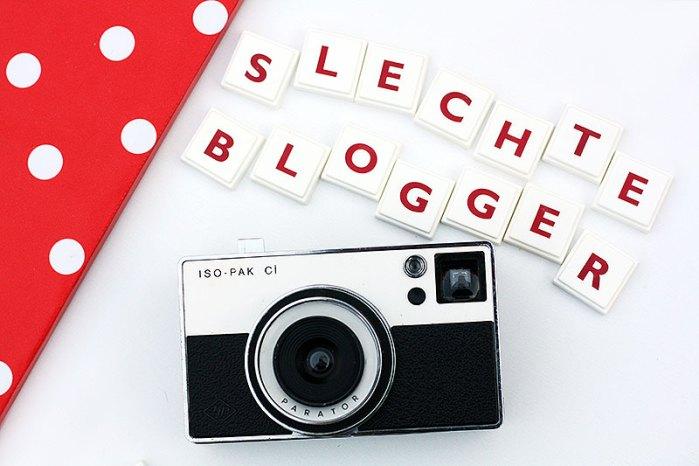 Slechte blogger