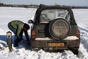 Rondje Groesbeek in de sneeuw