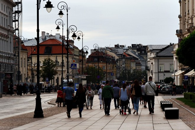Straßenszene in Warschau