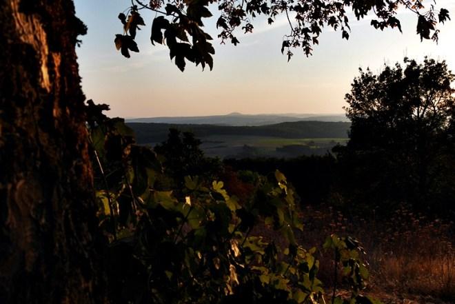 Sonnenuntergang vom Frauenberg am Hugenotten-und Waldenserpfad