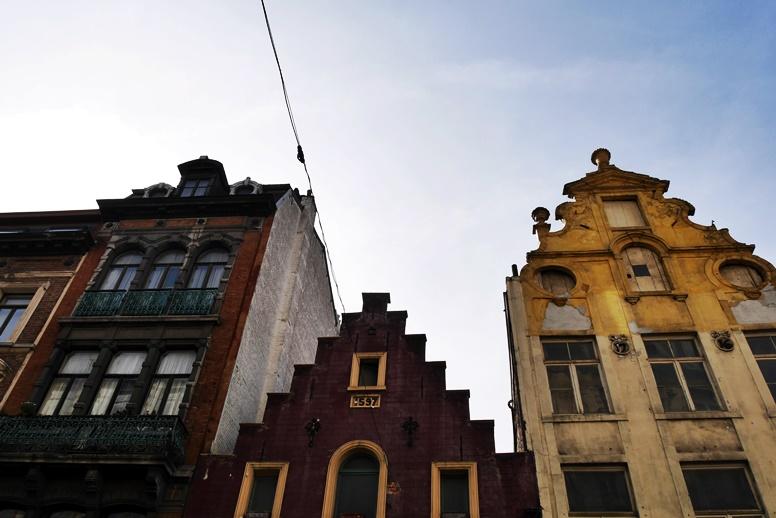 Bunte Häuser in der Altstadt von Brüssel