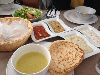 our lunch in Nazareth