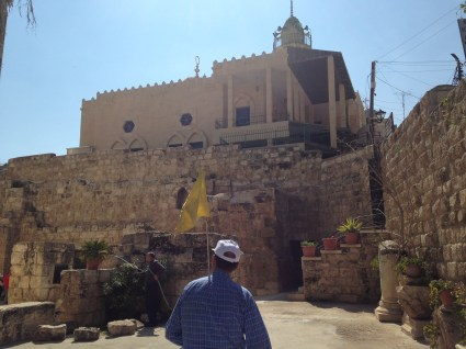 to Lazarus' cave in Bethany