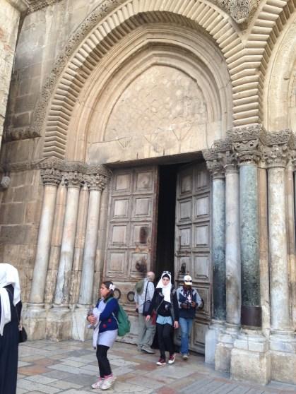 huge door of the church
