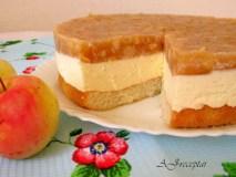 Desertinės varškės ir obuolių tortas