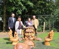 Lietuvio sukurtos skulptūros papuošė parką Dublino centre