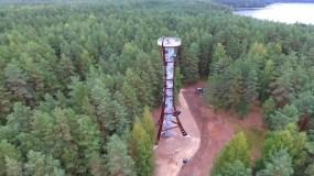 Vaizdingąjį Labanoro regioninio parko kraštovaizdį jau galima pamatyti iš 36 m aukščio