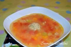 Ryžių ir mėsos kukulaičių sriuba