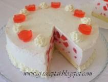 Jogurtinis žemuoginis tortas