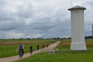 Merkinės Magdeburgo teisių miesto stulpas prie senojo kelio į Kauną