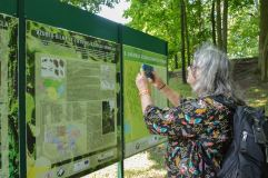 Savo globojamą ąžuolą VDU botanikos sode aplankė garsi antropologė prof. B. Galdikas