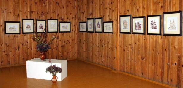 J. Balionienės monotipijų paroda Užpaliuose