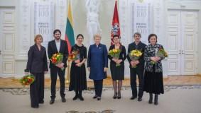 Šešiems kūrėjams įteiktos Nacionalinės kultūros ir meno premijos