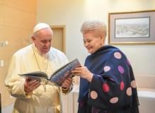 Popiežius Pranciškus dėkoja Lietuvai