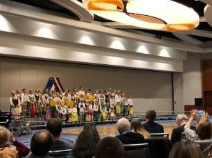 Bostono šeštadieninės mokyklos moksleivių koncertas. Nuotr. Mindaugo Kavaliausko