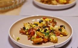 Vištienos apkepas su pupelėmis ir kukurūzais