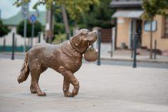 Kaune iškilo legendinės senbernarės Bitės skulptūra