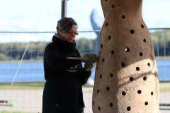Rudens lygiadienis Šiauliuose: baltiška muzika, jungtuvės ir šamoto skulptūrų atidengimas