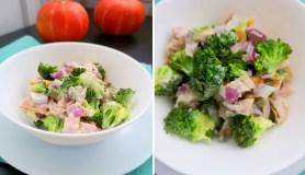 Brokolių salotos su rūkyta vištiena