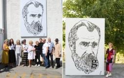 Los Andžele atidengtas signataro Mykolo Biržiškos portretas