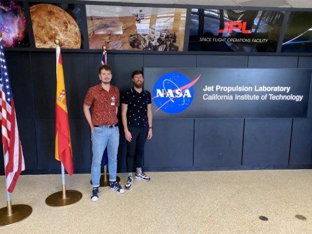 Tomas Narbuntas ir Deividas Čelkys, NASA