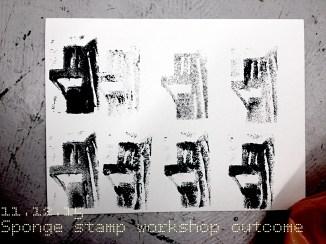 Germaine-Jay Workshop 02-Sponge Stamp Outcome