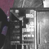 Germaine-Letterpress Process-Brutalist Archi
