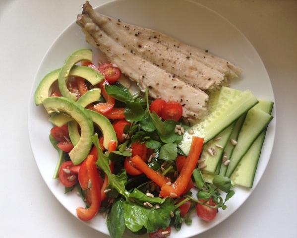 Smoked Snoek with salad