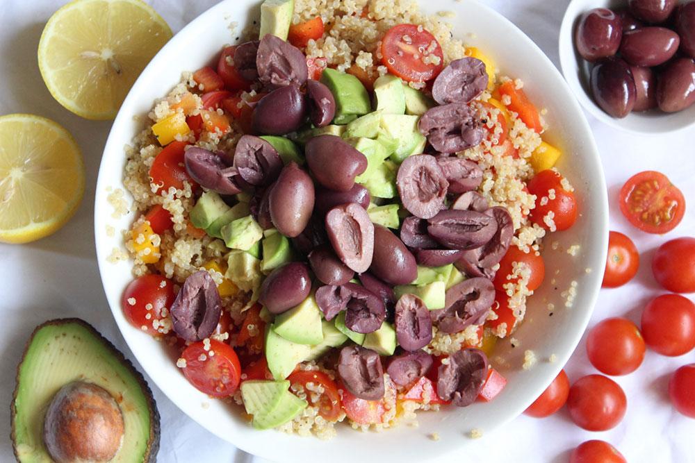Tossed Quinoa & Olive Salad