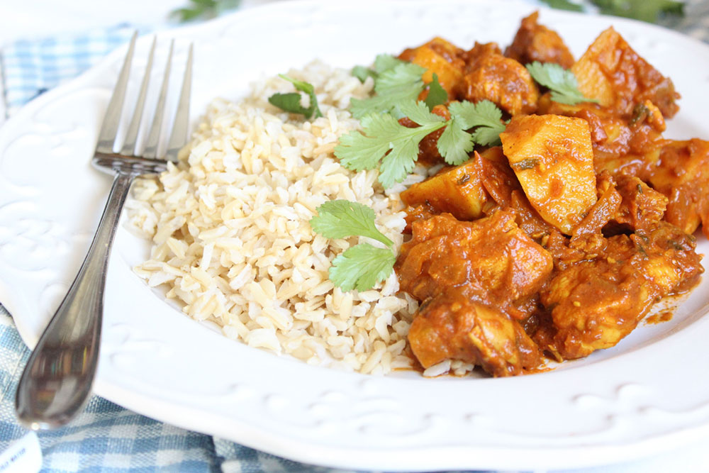 Healthy Chicken & Potato Curry (dairy-free, gluten-free, sugar-free)