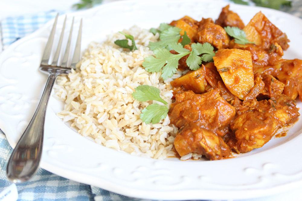 Healthy Chicken & Potato Curry (dairy-free, gluten-free, sugar-free)