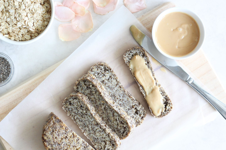 Easy Oat & Chia Bread (gluten-free, dairy-free)
