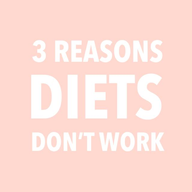 """(Please No More """"Diet"""") 3 Reasons Why Diets Don't Work"""