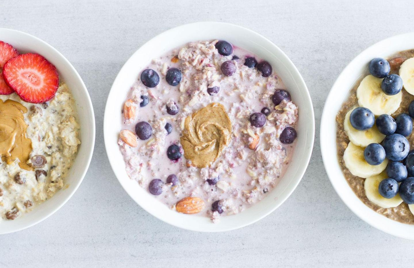 3 Easy Overnight Oats Recipes (gluten-free, sugar-free, dairy-free)