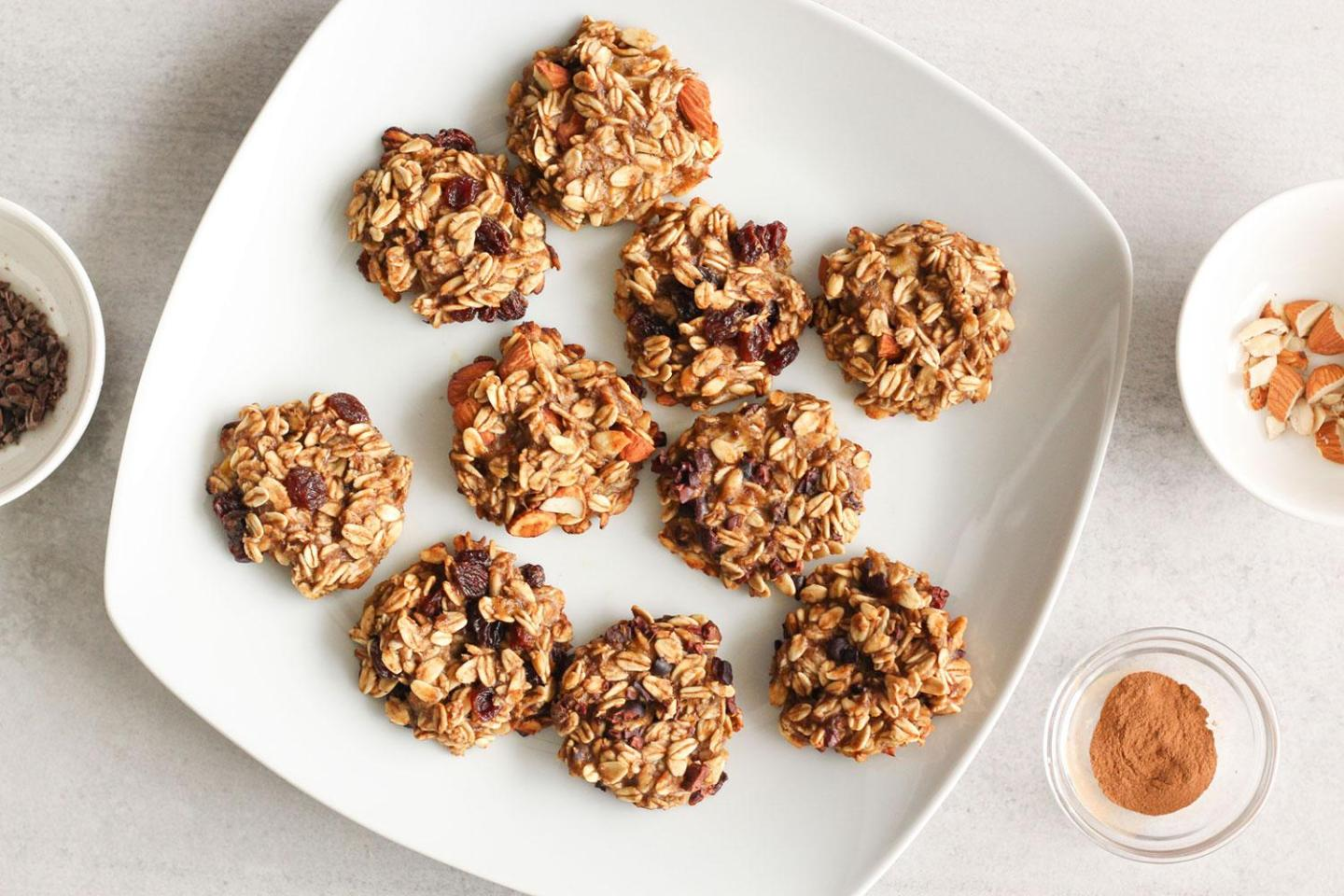 The Easiest 2 Ingredient Banana Oatmeal Cookies