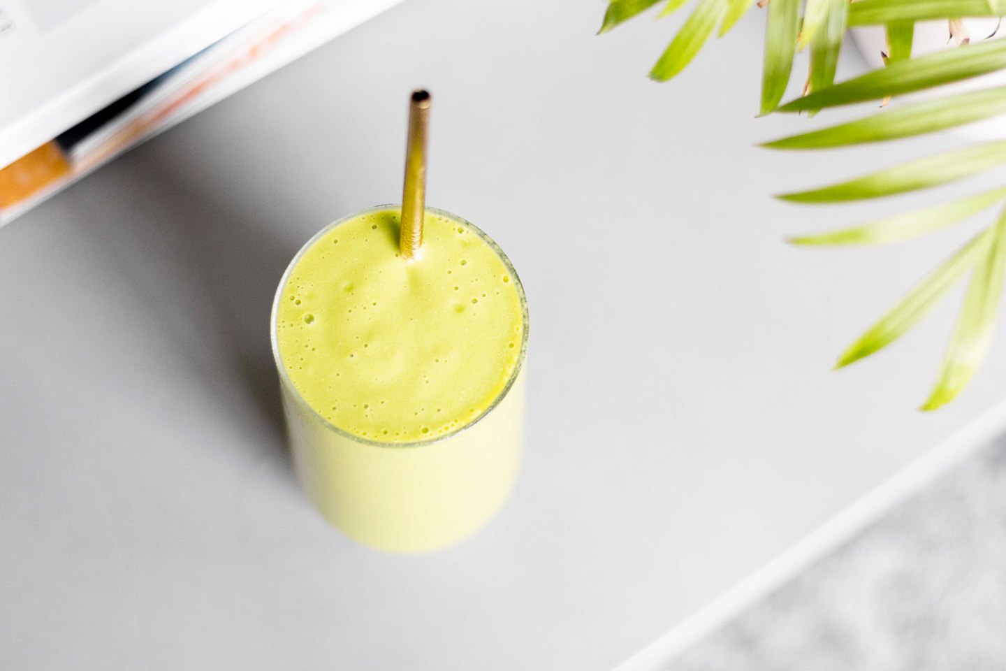 Weight-Loss Green Mango & Vanilla Protein Smoothie (Meal Prep)