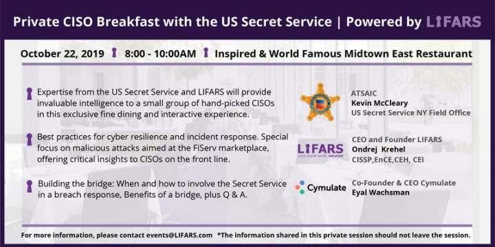 Private CISO Breakfast with the U.S. Secret Service