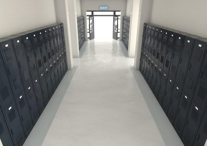 School Locker Exit Way