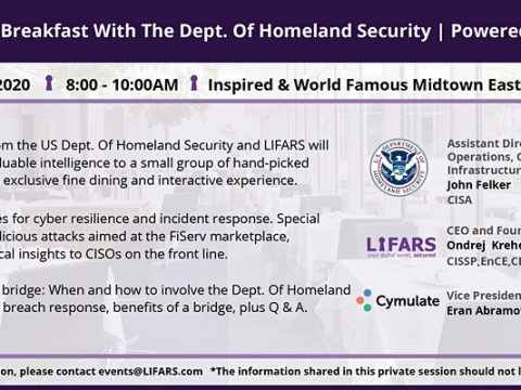 LIFARS Private CISO Breakfast with the Department of Homeland Security
