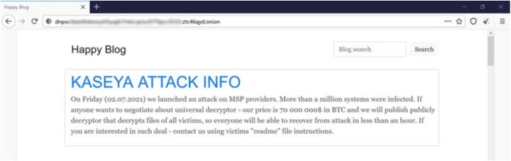 REvil Ransomware Kaseya Supply-Chain Attack Summary_image 1