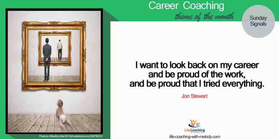 What signals are you sending to The World through your career choices?
